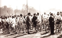 1920s Beijing Road bicycle racing (China Postcard) Tags: road bicycle beijing racing    vision:outdoor=099