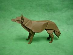 Wolf Revised (shuki.kato) Tags: dog paper mammal origami wolf canine 2006 fold kato shuki