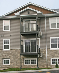 The balcony system is manufactures using 50% post industrial, post consumer scrap aluminum.