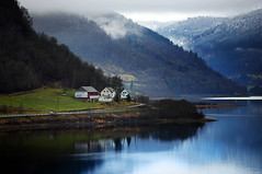 Norway: On the way to Flm (ovofrito) Tags: sea panorama mountains nature beautiful norway landscape nikon paradise north lakes norwegen noruega fjord bergen scandinavia flm d800 rosendal