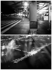 11 (carlajuliett) Tags: sunset blackandwhite newyork airplane flying newjersey diptych flight selfportraits story series airports nigh storytelling