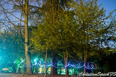 Night graffity (christian speck) Tags: trees lightpainting night 35mm lights schweiz switzerland suisse sony lausanne arbres nuit lumieres rx1
