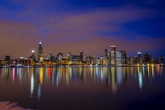 the city on the lake (olsonj) Tags: chicago skyline illinois adler lakemichigan