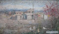 Giulio Cesare Prati Paesaggio argentino a Mendoza olio su tela 72x156cm 1899-1903 Collezione privata