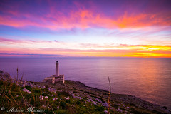 Otranto - Palasca lighthouse at dawn (amarsano) Tags: lighthouse seascape faro dawn mare alba shoreline inverno otranto salento palascia