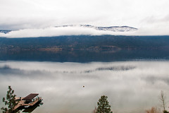 Lake Okanagan in November 12 (LongInt57) Tags: autumn trees winter sky snow canada mountains fall water clouds forest docks reflections landscape reflecting boat bc piers lakes scenic hills boathouses okangan