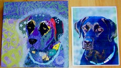 Torn Paper Dog Portrait - Zoe (all things paper) Tags: petportraits chigirie tornpaperart