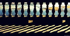 La incertidumbre/La incertesa/ The uncertainty/ L'incertitude (Ferny Carreras) Tags: shadow sea sun mer sol geometric beach water mar sand agua ombra sombra playa catalonia arena paseo shore handrail catalunya sitges pedra aigua roca catalua platja sorra piedra geometria barandilla martimo barana