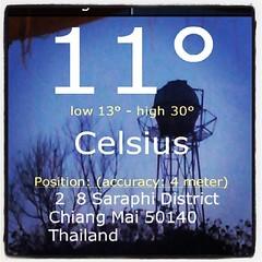 และแล้ว ก็ 11ºc ความหนาวคงที่ เข้าวันที่ 3 #ใต้ผ้าห่มอุ่น #รังนอนแดร็กคูล่า  #ขัวมุง #สารภี #เชียงใหม่