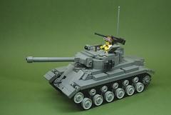 M26 Pershing heavy tank (2) (Dunechaser) Tags: usa army tank unitedstates lego military worldwarii armor ww2 pershing worldwar2 m26 brickarms brickmania