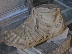 Foot, Rome, Italy (Robby Virus) Tags: italy sculpture vatican rome art statue stone museum foot shoe italian ancient toes roman sandal