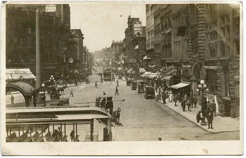 seattle brick postcard cable streetcar pioneersquare 1900s