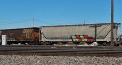 KOSE HTF (stateofoppression) Tags: minnesota train bench graffiti panel tag trains mpls boxcar graff piece mn hopper railfan freight rollingstock htf kose foamer grainer benching hbak freightporn fuckinstagram