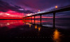 A Royal Dawn (Fernandez Barrett) Tags: new blue newzealand sky beach grass sunrise canon dawn pier brighton multicoloured canterbury shore nz southisland anzac daybreak newbrighton anzacday 2014 fcf skycloudssun canoneos7d