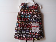 baby girl floral aline dress with diaper cover.