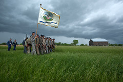 Put The Boys In (T-3 Photography) Tags: infantry soldier virginia war flag rifle confederate civilwar battlefield newmarket reenactor vmi cadet battalion musket virginiamilitaryinstitute