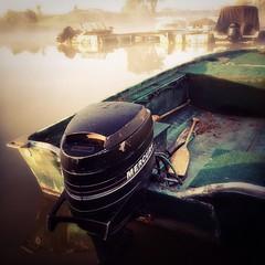 Gray's Creek Marina (Richard Pilon) Tags: canada water marina sunrise river boat fishingboat iphone grayscreek iphoneography hipstamatic grayscreekmarina