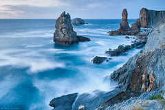 Urros blue hour (Corsaro078) Tags: sea seascape landscape spain mare paesaggio cantabria spagna urros