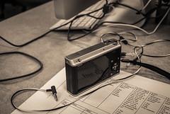 Reversed image (.Chris Lee) Tags: camera monochrome paper table cord nikon keyboard fuji desk cords stripes kitlens cable cx monochromatic cables headphones fujifilm 1855mm nikkor v1 compact earbuds earbud compactcamera xseries ft1 nikkor1855mm nikon1 creamtone xf1 1nikkor nikoncx nikonv1 1nikkor30110mm fujifilmxf1 fujixf1