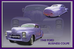 1948 Ford Business Coupe (Brad Harding Photography) Tags: ford 1948 whitewalls purple antique business restored kansas hotrod customized restoration paola coupe 48 fordmotorcompany heartlandcartruckandbikeshow