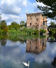 Borghetto sul Mincio (Verona) (Mauro e Irene) Tags: italy italia verona veneto mincio castle castello reflection riflesso borghettosulmincio borghetto valeggiosulmincio valeggio