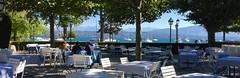 Thank god they have WiFi (oobwoodman) Tags: switzerland suisse schweiz genthod geneva genve genf lake mountains restaurant lac montagnes see berge lman leman genfersee lakegeneva montblanc cruxdegenthod