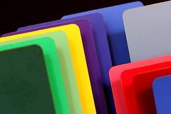 flat colors in a row (maotaola) Tags: macromondays inarow colorsinarow coloresenfila composition laminatedplasticsample catchycolors brightcolors geometriegeometry