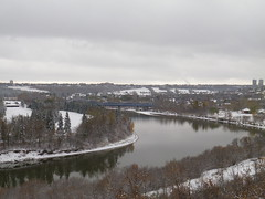 IMGP3792 (KMW2700) Tags: snow schnee edmonton alberta canada kanada rivervalleypark rivervalley flusstal walk spaziergang tree baum river flus wet nass