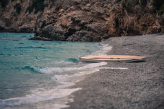 Autumn on the beach (Vagelis Pikoulas) Tags: autumn october 2016 beach canon canoe sea north wind porto germeno greece waves wave 6d tamron 70200mm vc f28 rocks landscape seascape