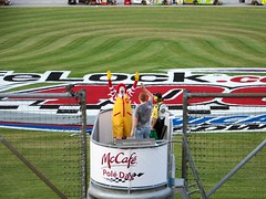 2008 LifeLock.com 400 (Vinny Gragg) Tags: sign signs restaurant restaurants costume costumes cosplay nascar nascarracing nationwideseries sprintcupseries racing joliet illinois jolietillinois willcounty superheroes superhero comics comicbooks comicbook villian villians supervillian supervillians 2008lifelockcom400 lifelock400 ronaldmcdonald mcdonalds chicagolandspeedway grandmarshal clown clowns mascot mascots grass