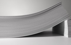 typing paper (Dean Hochman) Tags: typingpaper office paper writing bend bent flexible printing printer forests technology communication recyling email paperless