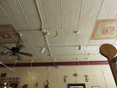 Tin Ceiling (amyboemig) Tags: vermont fall october foliage bristol tin ceiling fan restaurant
