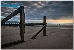 Low tide at the groins (Hugh Stanton) Tags: beach groins shadows sunset low tide appickoftheweek