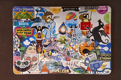 MacBook Air stickers - DrupalCon Dublin 2016