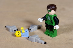 Green Lantern comes to the rescue (Busted.Knuckles) Tags: home toys lego minecraft minifigures greenlantern baby pentaxk3 camerautility5