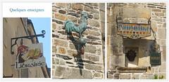 Rochefort-en-Terre (Chti-breton) Tags: enseigne boutique librairie antiquaire coq cuivre