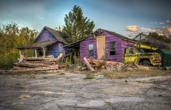 Two Abandoned Houses & a Truck--(Explored) (donnieking1811) Tags: tennessee pigeonforge abandonedhouses trucks colorful canon 60d oldandbeautiful