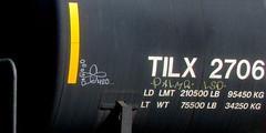 420 - palmr LSD (timetomakethepasta) Tags: 420 palmr lsd freight train graffiti art moniker tilx tanker bozo texino