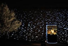 Granada estrellada (Antonio_Luis) Tags: rehabilitacion muralla nazari antoniojimeneztorrecillas antoniojimneztorrecillas alhambra torre de la vela alcazaba noche nocturna iluminado arbol olivo flash lightpainting albaicin albayzin granada andalucia espaa
