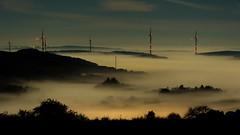 Nebel ber dem Osterthal (montagestaender) Tags: saarland nebel nacht kontrast landschaft fog night moonlight mondlicht polfilter
