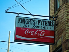 Knights of Pythias, Mingo Junction, OH (Robby Virus) Tags: mingojunction ohio knights pythias lodge 414 cocacola fraternal organization sign signage