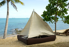 Camping Tent On The Beach (jewelcse) Tags: beach beauty blue camp daylight destination exotic green holiday island lagoon nature ocean outdoor palm paradise relaxation relaxing resort rest romantic sand sea sky summer tent tourism travel tree tropical turquoise vacation water