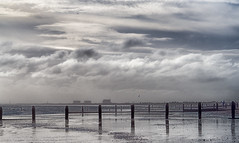 Dungeness Power Station (Mary Gerard) Tags: sea sky groynes clouds