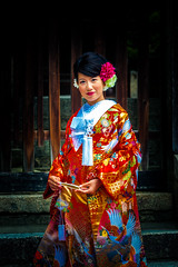The flowers of Kyoto (Arutemu) Tags: japan japanese japon japonais japonesa japones japonaise asian asia scene kansai kyoto woman face female femaleportrait femme girl portrait kimono
