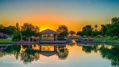 Sunrise On The Park (playful_i) Tags: arizona casagrande villagolake villagopark desert lake park sunrise water