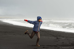 Aurlia @ Vk  Mrdal Beach (Photocedric) Tags: iceland beach ocean water black islande rain sand sea vk is