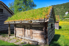 113442_AB_6043 (aud.watson) Tags: europe norway sognogfjordane sunnfjord museum oldvillage oldsettlement historicvillage woodenhouse thatchedroof route e39