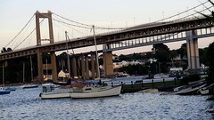 Dusk on the River Tamar from Saltash (nick taz) Tags: tamarbridge rivertamar saltash cornwall water boats dusk dark