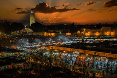 In The Place (Dave Boam) Tags: marrakesh morroco koutoubia sunset market souk