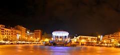 PAMPLONA  Plaza del Castillo (6toros6) Tags: alfredo aficionados d7100 flickr12days noche nikon luz navarra nocturna paseo otoo cielo reflejos negro color pamplona